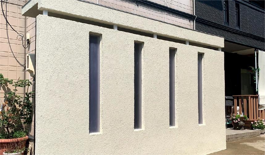 自由デザインの塀